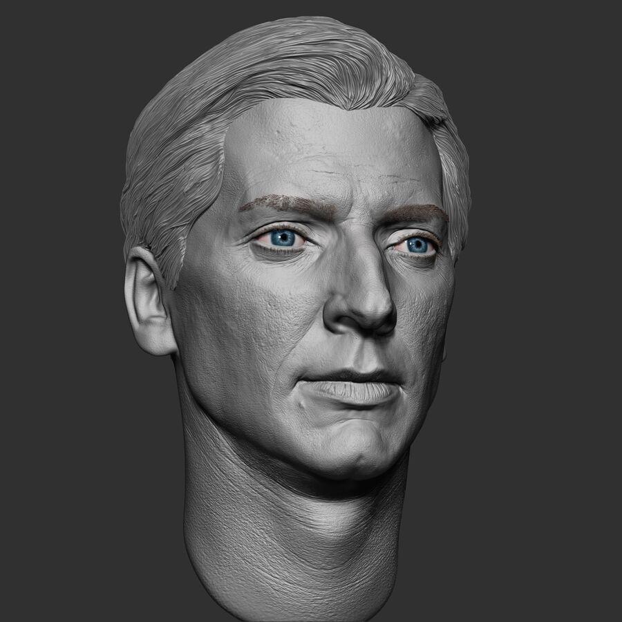 Caucasian Man Head royalty-free 3d model - Preview no. 10