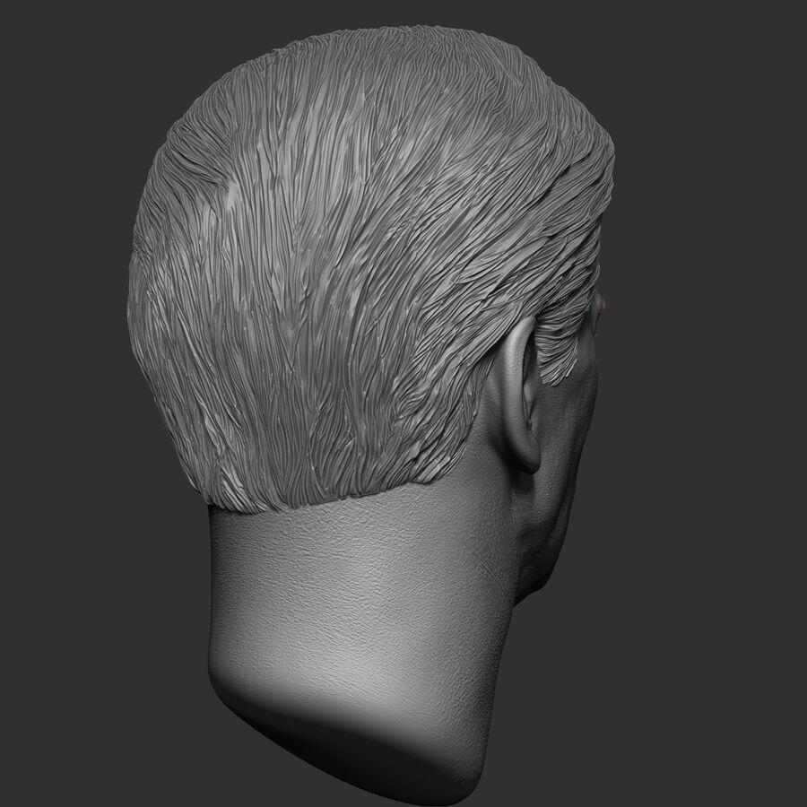 Caucasian Man Head royalty-free 3d model - Preview no. 8