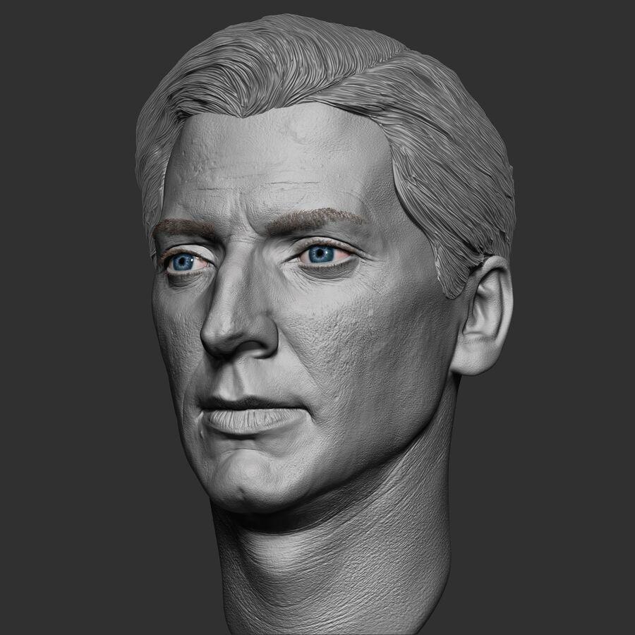 Caucasian Man Head royalty-free 3d model - Preview no. 3