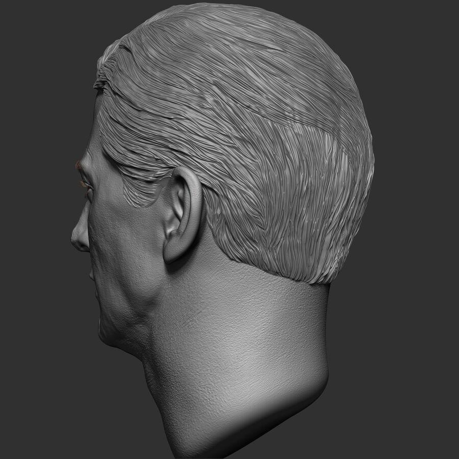 Caucasian Man Head royalty-free 3d model - Preview no. 7