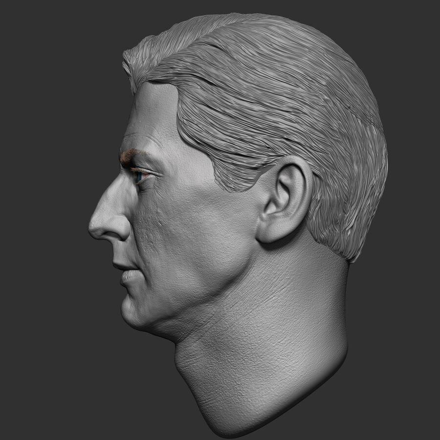 Caucasian Man Head royalty-free 3d model - Preview no. 6