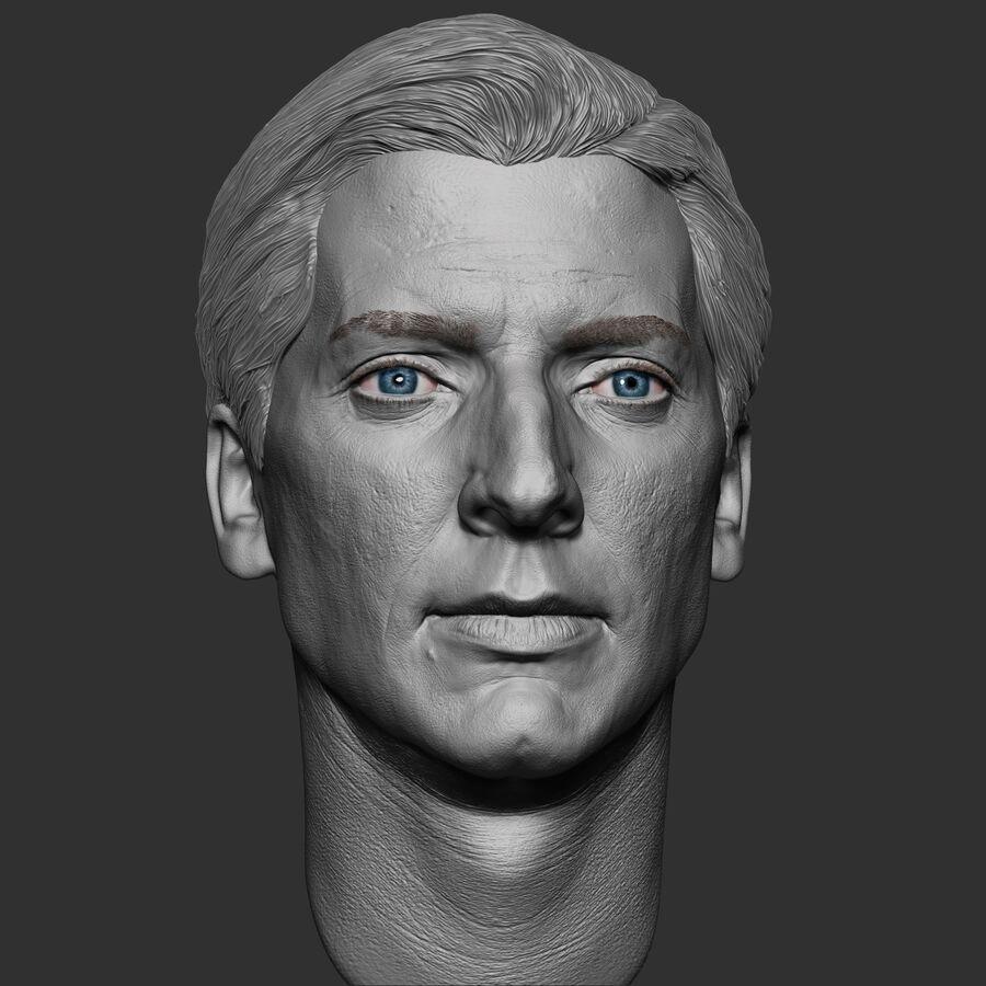 Caucasian Man Head royalty-free 3d model - Preview no. 11