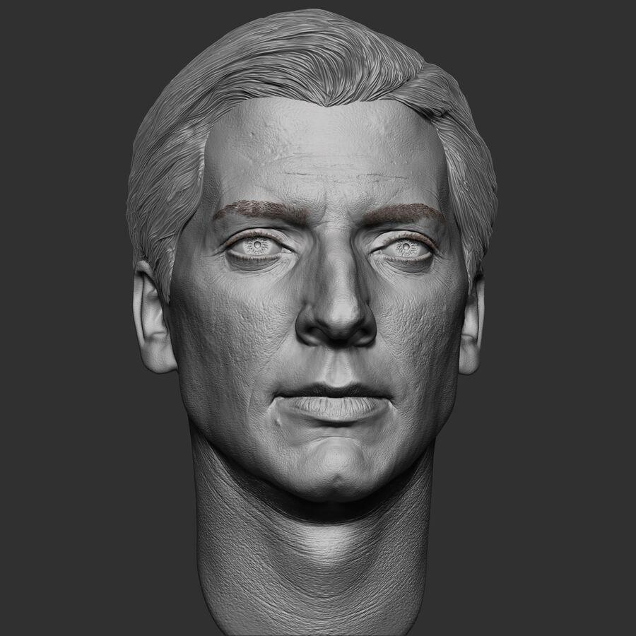 Caucasian Man Head royalty-free 3d model - Preview no. 12