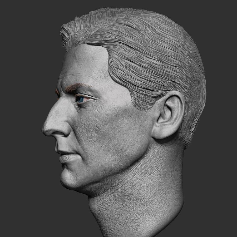 Caucasian Man Head royalty-free 3d model - Preview no. 5