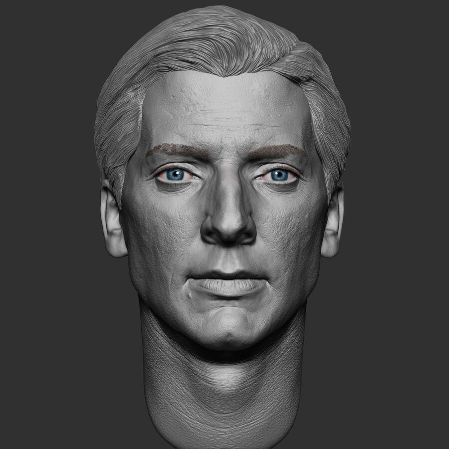 Caucasian Man Head royalty-free 3d model - Preview no. 2