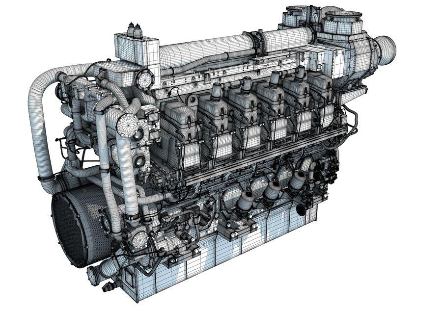 船用动力发动机 royalty-free 3d model - Preview no. 18