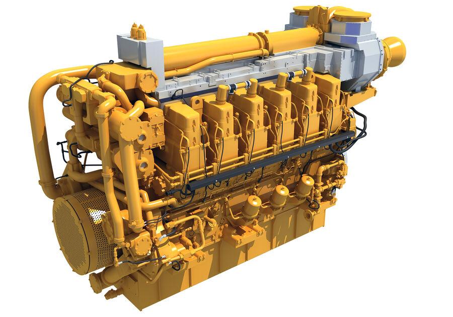 船用动力发动机 royalty-free 3d model - Preview no. 5