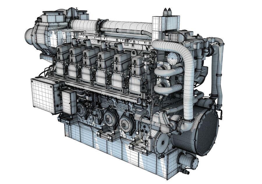 船用动力发动机 royalty-free 3d model - Preview no. 17
