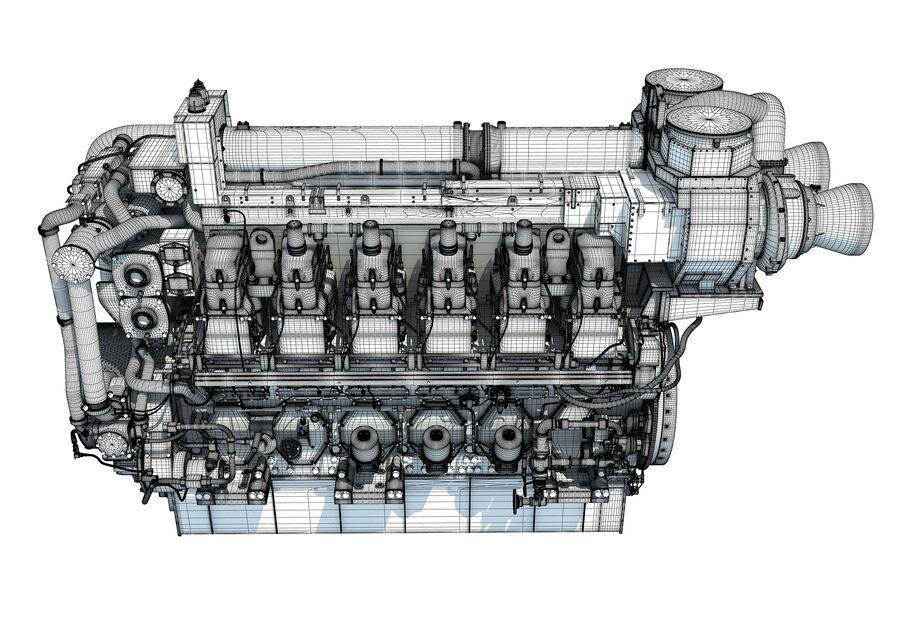 船用动力发动机 royalty-free 3d model - Preview no. 19