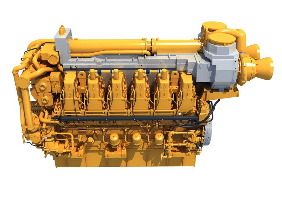 船用动力发动机 royalty-free 3d model - Preview no. 6