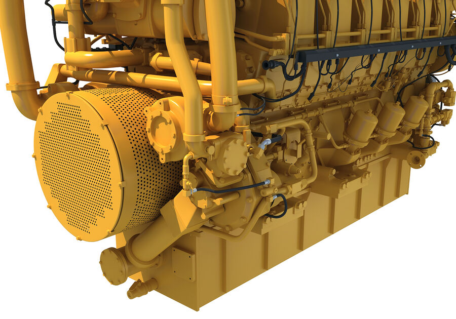 船用动力发动机 royalty-free 3d model - Preview no. 13