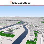 Stadt Toulouse abgeschlossen 3d model