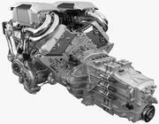 Bugatti Chiron - Divo Engine 3d model