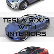 2017 Tesla SX-3 Collection w interior 3d model