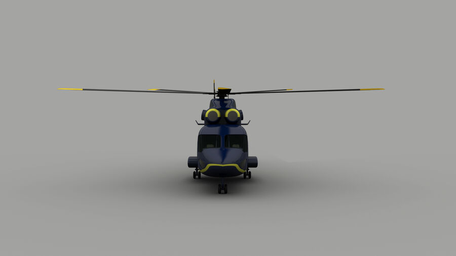 VIP-helikopter royalty-free 3d model - Preview no. 4