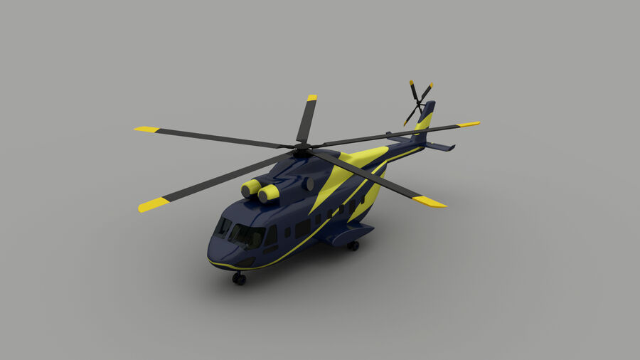 VIP-helikopter royalty-free 3d model - Preview no. 1
