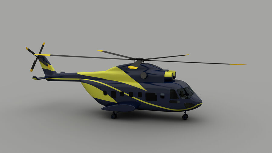 VIP-helikopter royalty-free 3d model - Preview no. 2