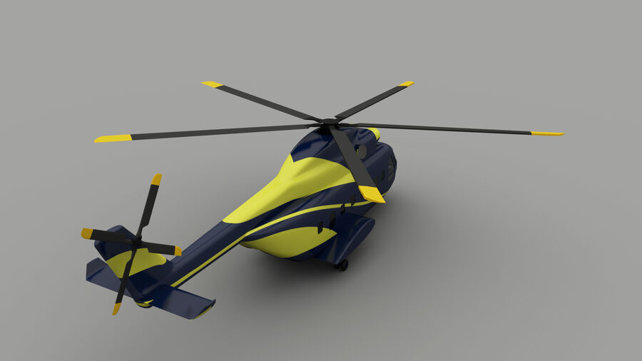 VIP-helikopter royalty-free 3d model - Preview no. 3