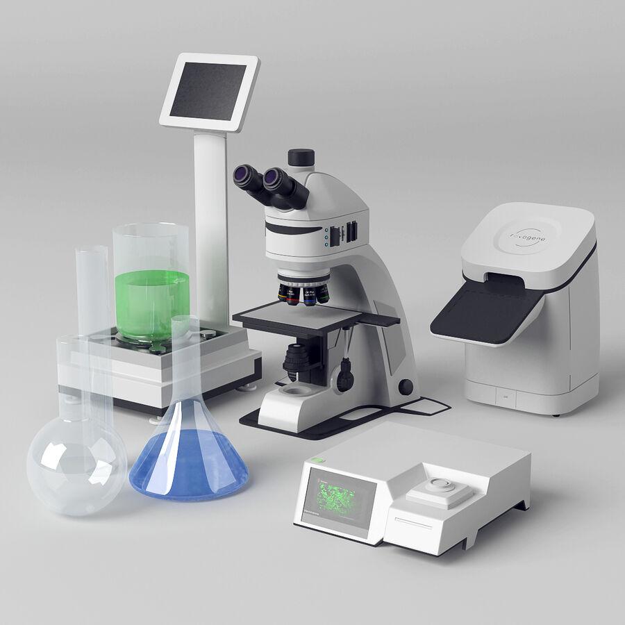 Equipamento de laboratório médico royalty-free 3d model - Preview no. 1