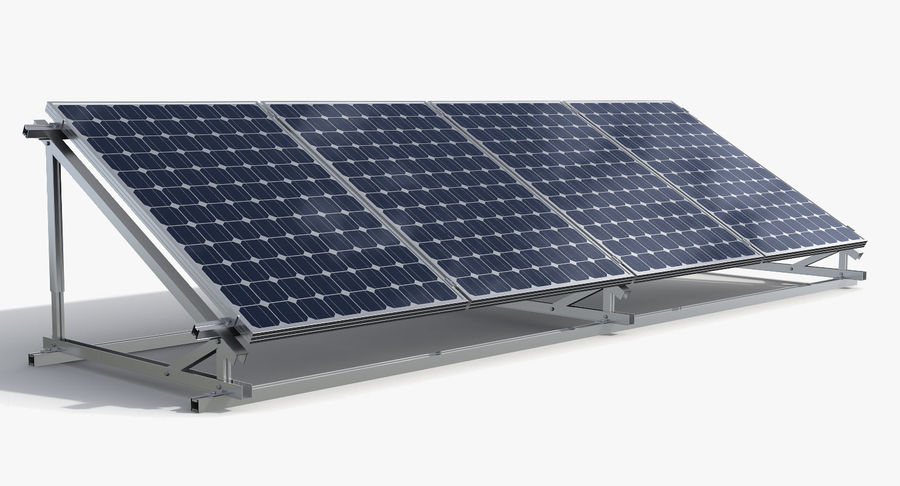 Solar Cell royalty-free 3d model - Preview no. 3