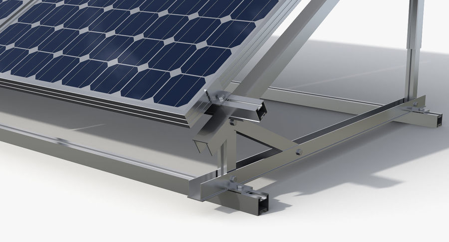 Solar Cell royalty-free 3d model - Preview no. 4