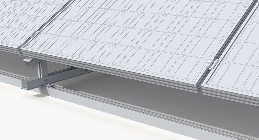 Solar Cell royalty-free 3d model - Preview no. 12