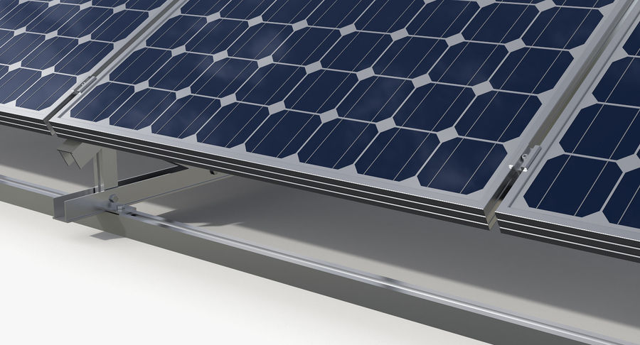Solar Cell royalty-free 3d model - Preview no. 5