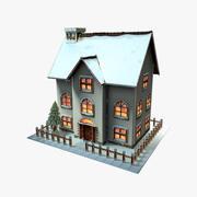 Haus-Cartoon-Weihnachten 3d model