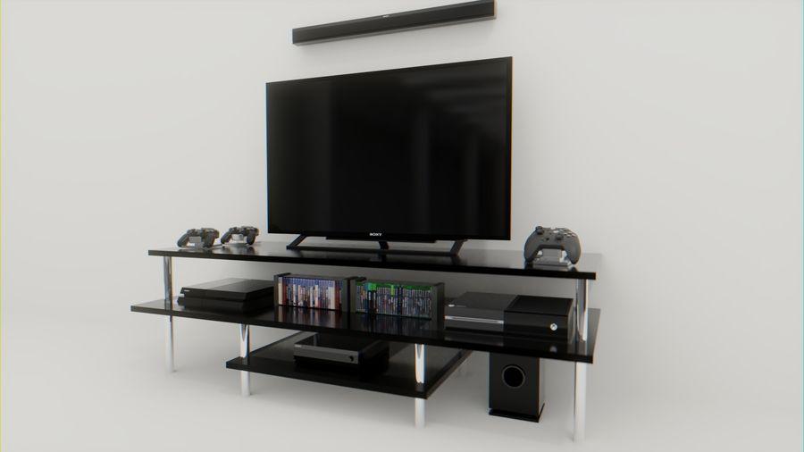 PS4, Xbox One, TV och hemmabio royalty-free 3d model - Preview no. 1