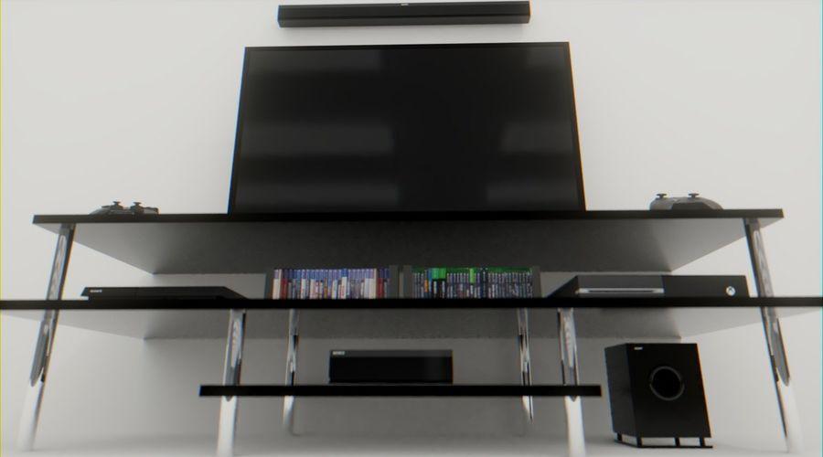 PS4, Xbox One, TV och hemmabio royalty-free 3d model - Preview no. 3