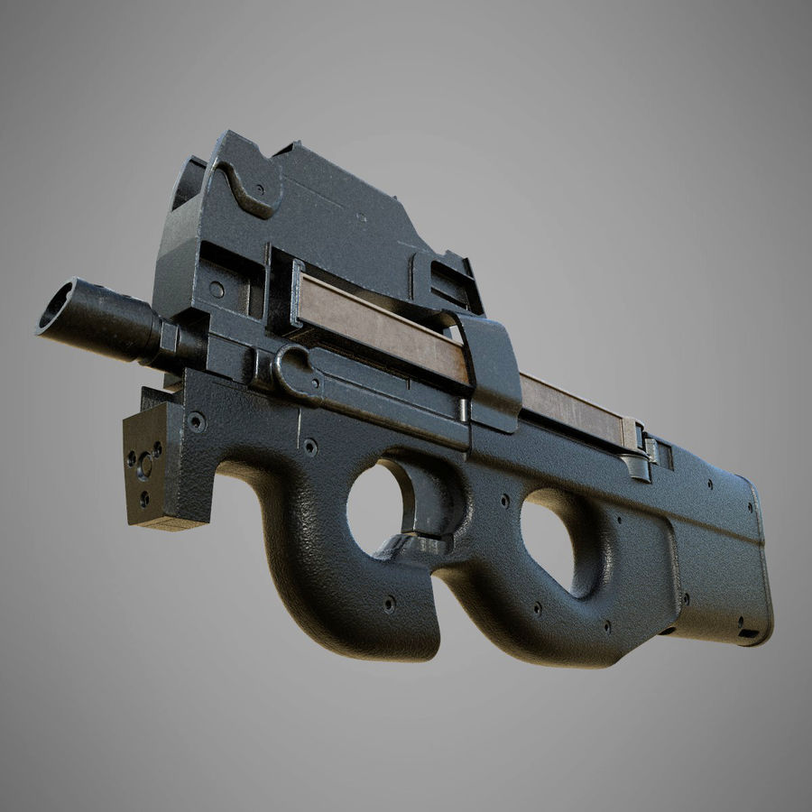 P90 royalty-free 3d model - Preview no. 1