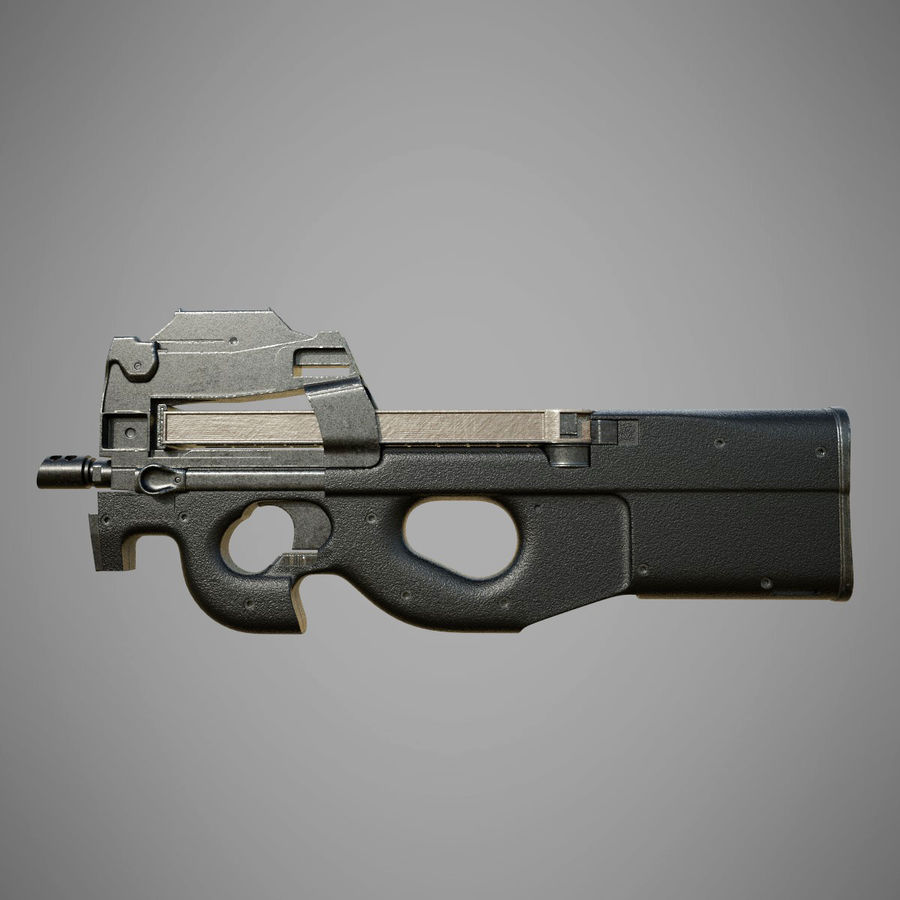 P90 royalty-free 3d model - Preview no. 2