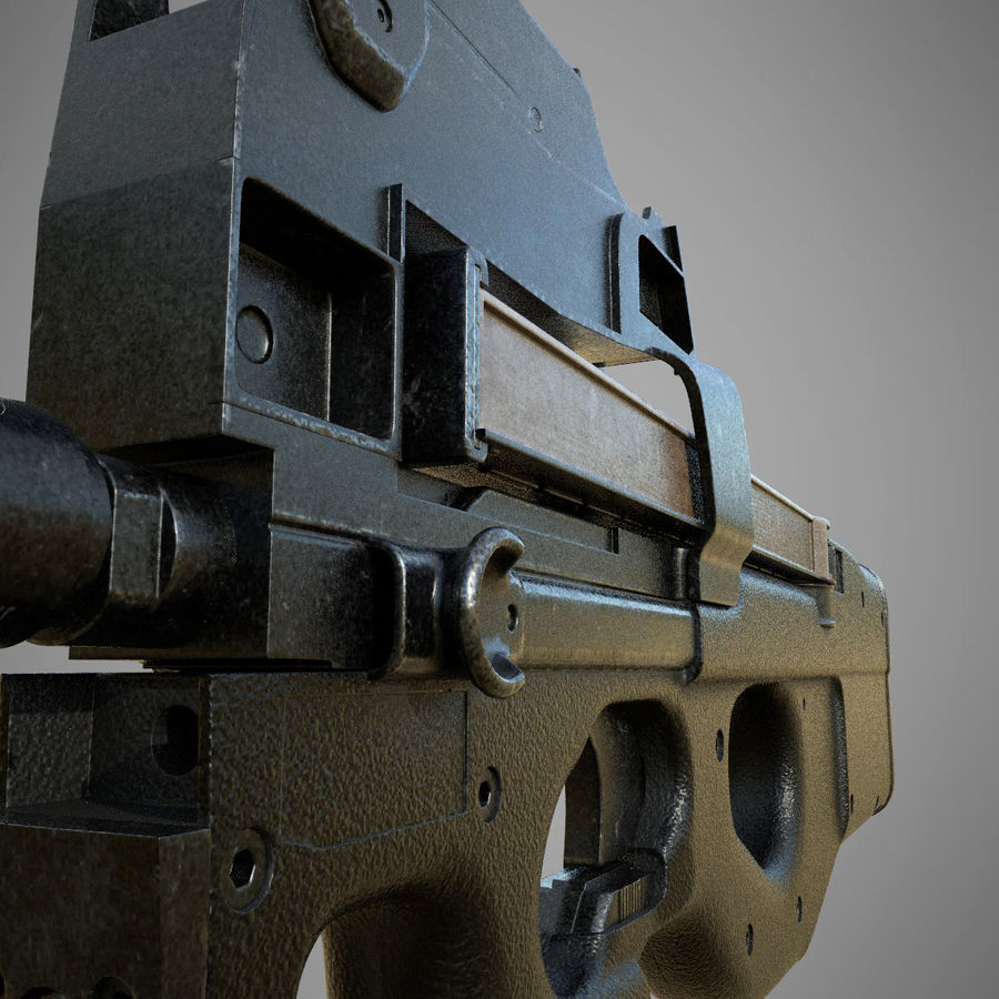 P90 royalty-free 3d model - Preview no. 3