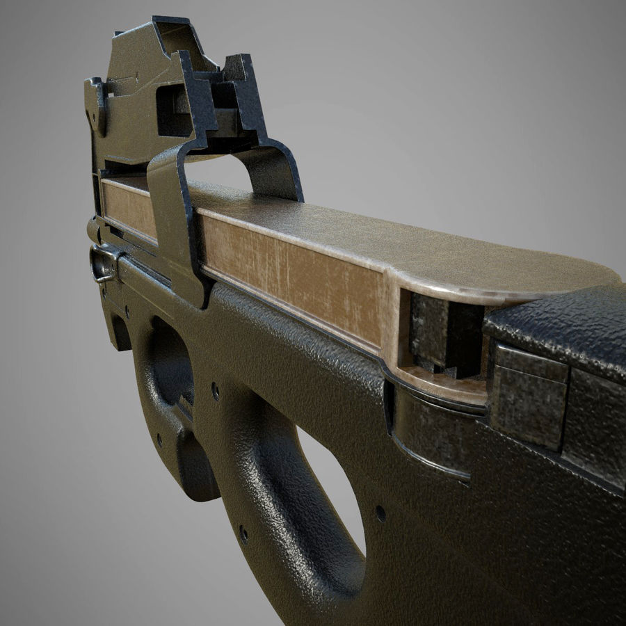 P90 royalty-free 3d model - Preview no. 4