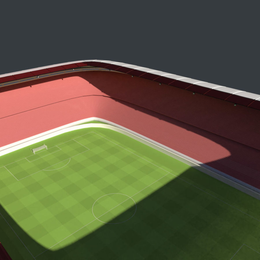 Stadion Low Poly Cartoon royalty-free 3d model - Preview no. 5