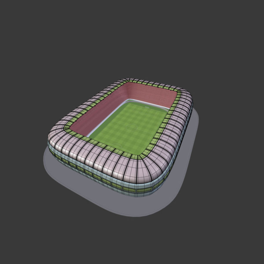 Stadion Low Poly Cartoon royalty-free 3d model - Preview no. 18