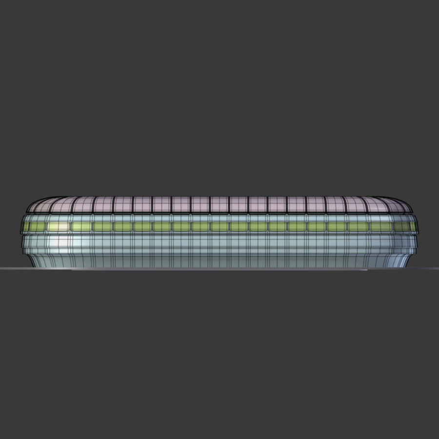 Stadion Low Poly Cartoon royalty-free 3d model - Preview no. 12
