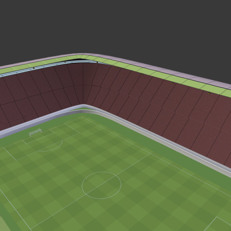 Stadion Low Poly Cartoon royalty-free 3d model - Preview no. 8