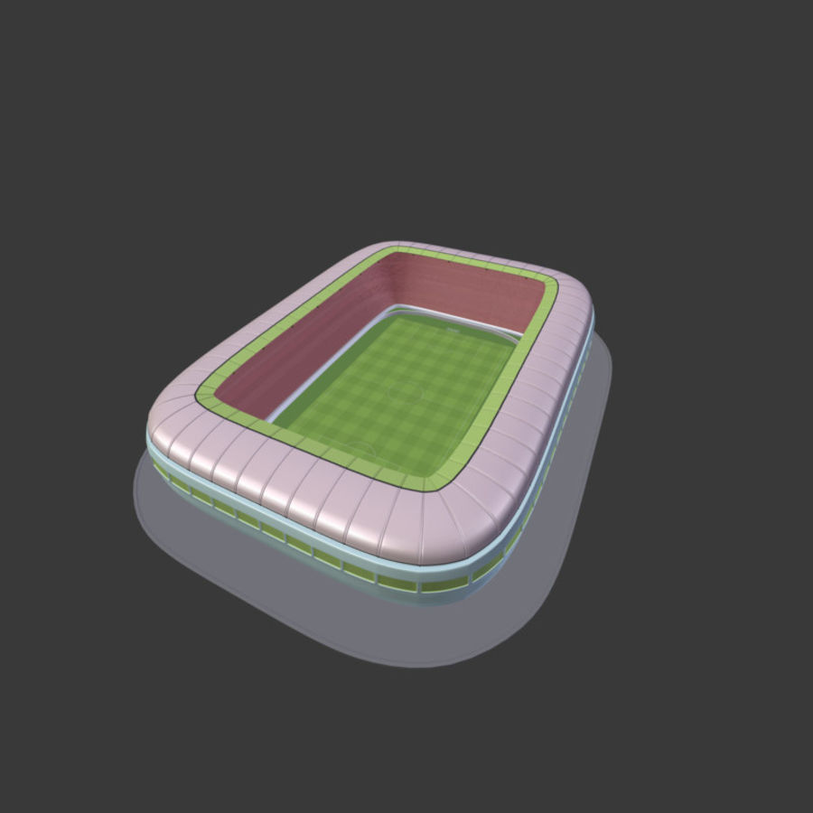 Stadion Low Poly Cartoon royalty-free 3d model - Preview no. 17
