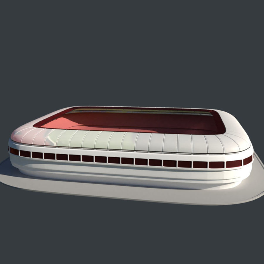 Stadion Low Poly Cartoon royalty-free 3d model - Preview no. 1