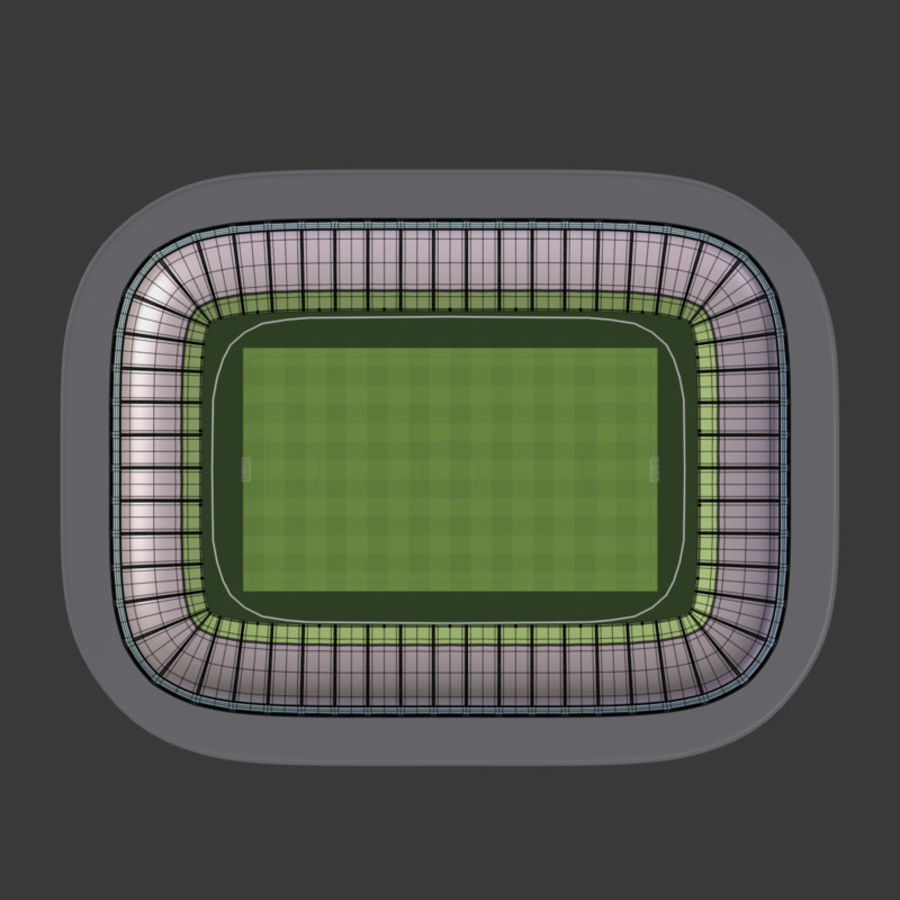Stadion Low Poly Cartoon royalty-free 3d model - Preview no. 10