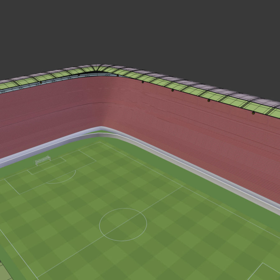Stadion Low Poly Cartoon royalty-free 3d model - Preview no. 6