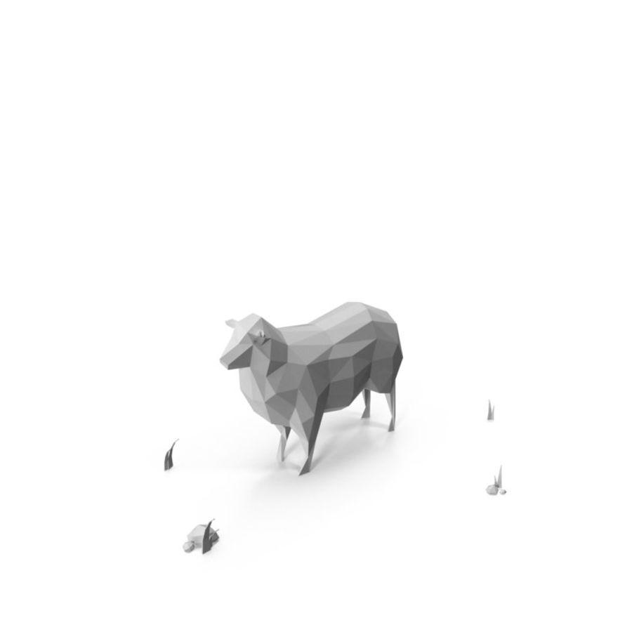 Animaux de Ferme Low Poly / Moutons royalty-free 3d model - Preview no. 2