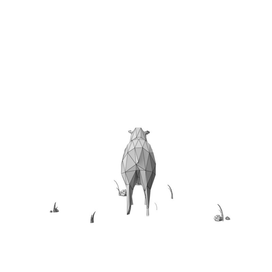 Animaux de Ferme Low Poly / Moutons royalty-free 3d model - Preview no. 12