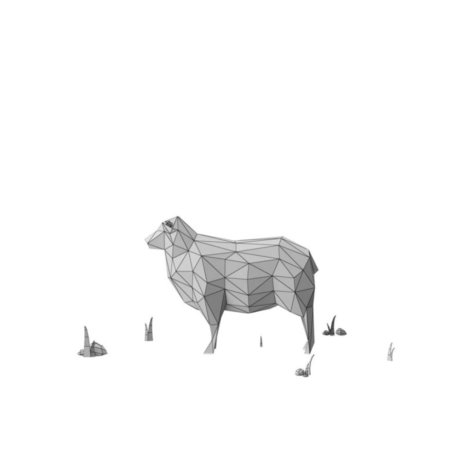 Animaux de Ferme Low Poly / Moutons royalty-free 3d model - Preview no. 11
