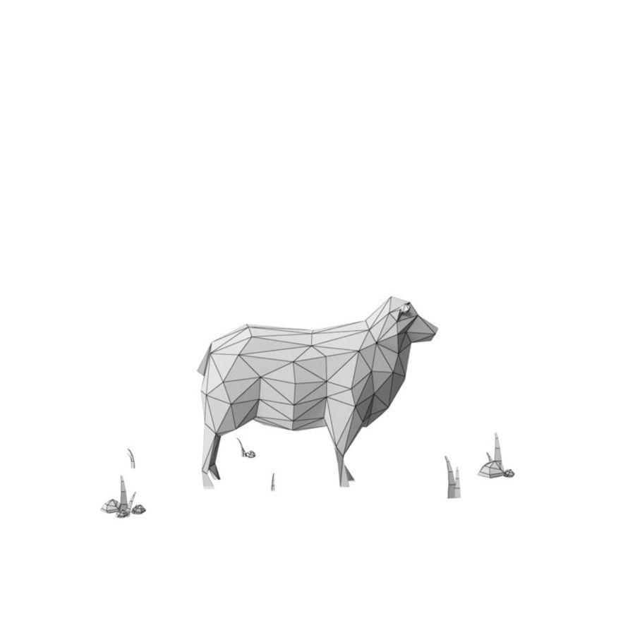 Animaux de Ferme Low Poly / Moutons royalty-free 3d model - Preview no. 13