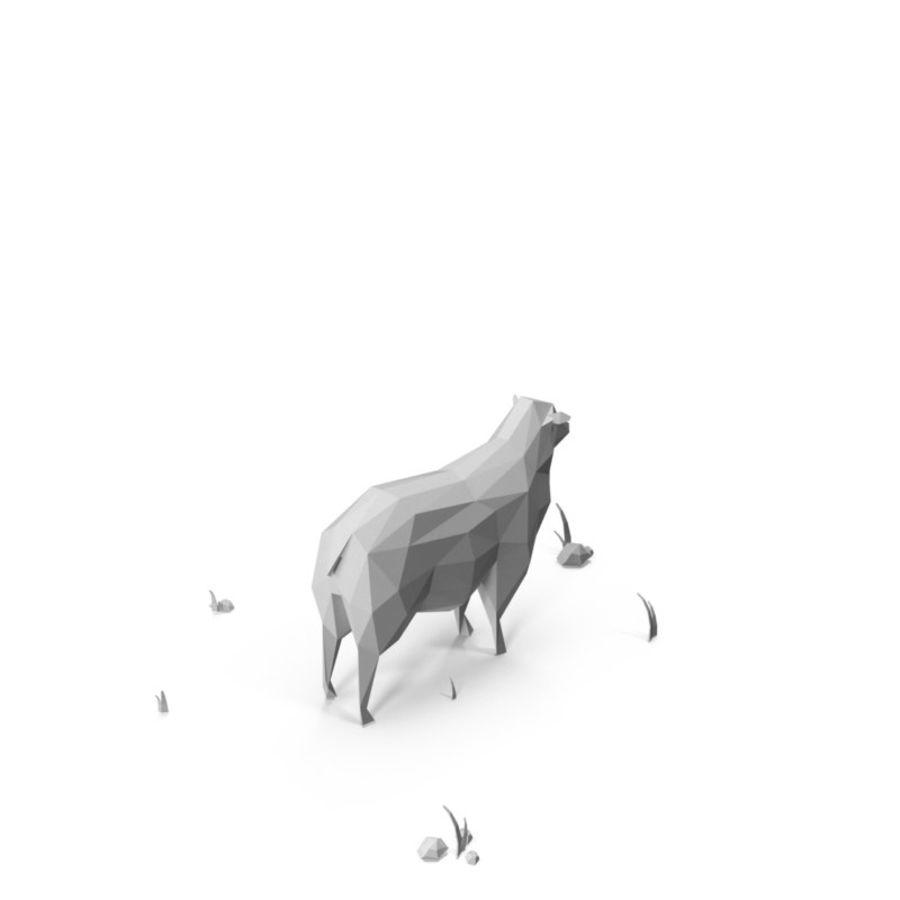 Animaux de Ferme Low Poly / Moutons royalty-free 3d model - Preview no. 3