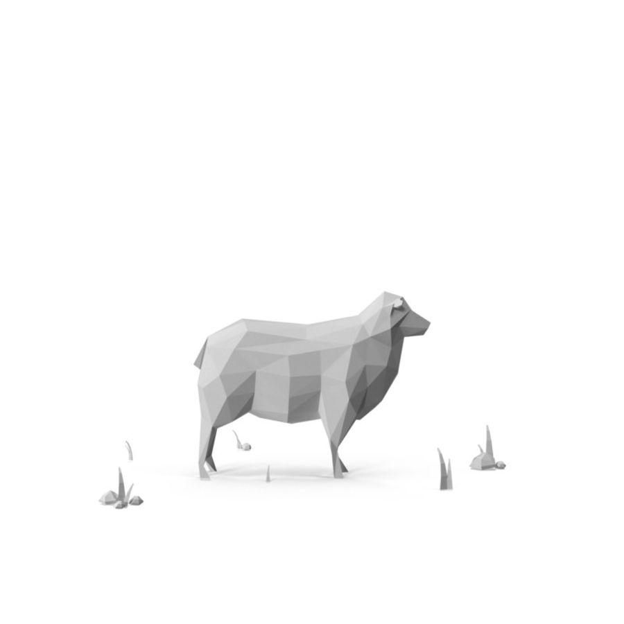 Animaux de Ferme Low Poly / Moutons royalty-free 3d model - Preview no. 7