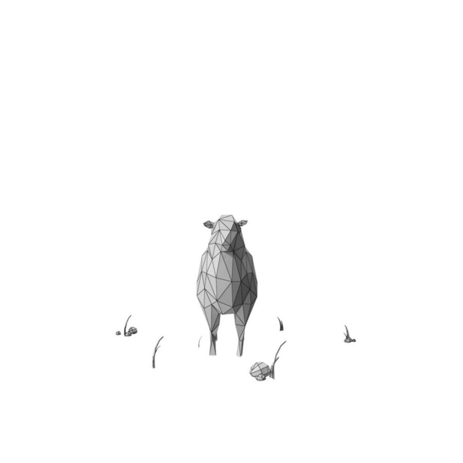 Animaux de Ferme Low Poly / Moutons royalty-free 3d model - Preview no. 10