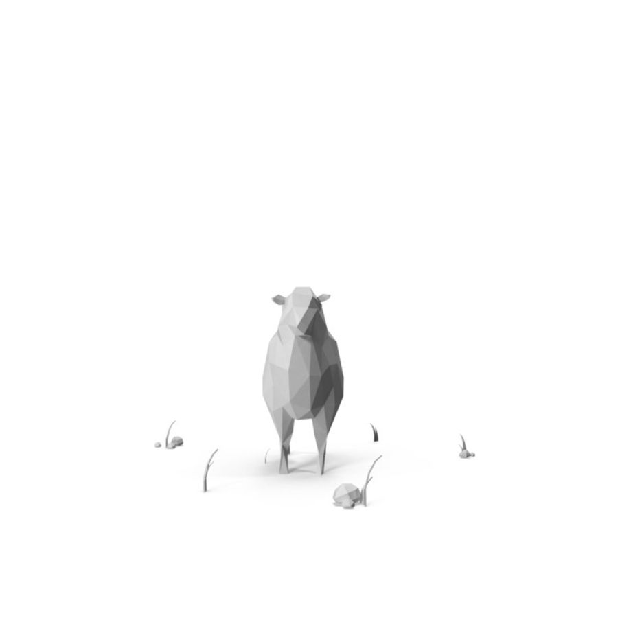 Animaux de Ferme Low Poly / Moutons royalty-free 3d model - Preview no. 4